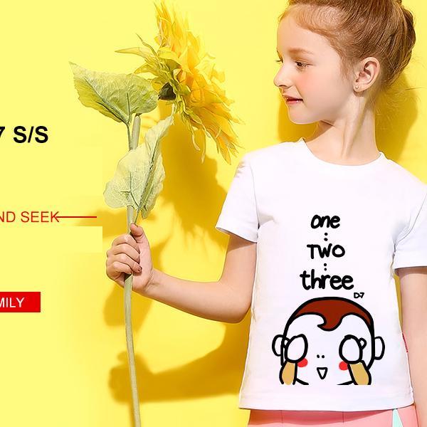 ◆快速出貨◆客製化.最佳情侶裝.純棉MIT【Y0616】短袖-躲貓貓親子裝.艾咪E舖