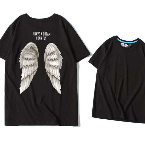 ◆快速出貨◆客製化.最佳情侶裝.純棉MIT.班服【YC561】短袖-背後翅膀.艾咪E舖