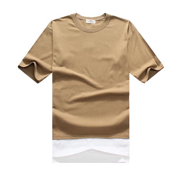 韓版 情侶T 短袖T桖 【M20051】短袖-下擺拼接 短T 情侶裝 潮T 班服 艾咪E舖