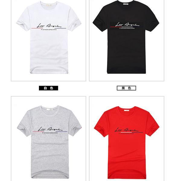 ◆快速出貨◆客製化.最佳情侶裝.純棉MIT.班服【Y0496】短袖-LA草寫英文.艾咪E舖