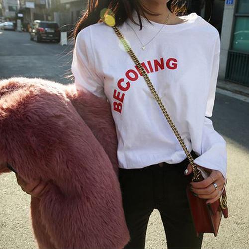 ◆快速出貨◆T恤.情侶裝.班服.MIT台灣製.純棉長T【YL0741】長袖-BECOMING.艾咪E舖