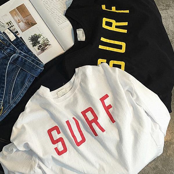 ◆快速出貨◆T恤.情侶裝.班服.MIT台灣製.純棉長T【YL0742】長袖-SURF. 艾咪E舖