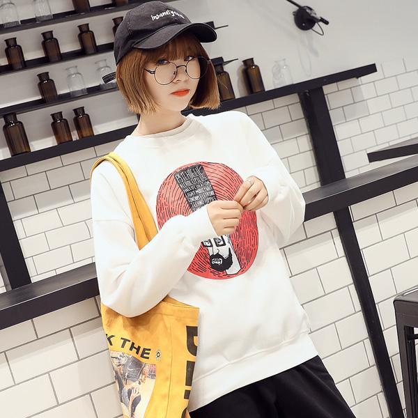 ◆快速出貨◆刷毛T恤 圓領刷毛 連帽T恤 暖暖刷毛 MIT台灣製【YCS603】刷毛-圓圈人物.艾咪E舖
